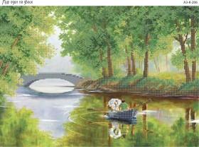 Схема для вышивки бисером на габардине Мир один на двоих, , 70.00грн., А3-К-206, Acorns, Пейзажи и натюрморты