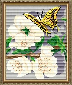 Набор для выкладки алмазной техникой Яблоневый цвет Триптих Часть 1, , 280.00грн., АТ5557, Art Solo, Картины из нескольких частей