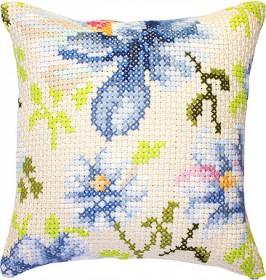 Набор подушки для вышивки крестом Цветы, , 329.00грн., РВ155, Luca-S, Подушки