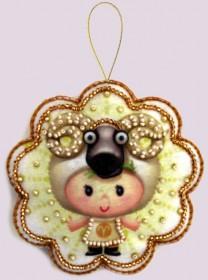 Набор для изготовления игрушки из фетра для вышивки бисером Овен Баттерфляй (Butterfly) F121 - 54.00грн.