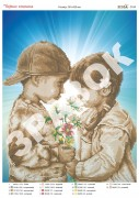Схема вышивки бисером на атласе Первая любовь