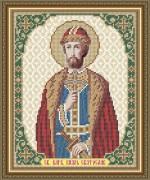 Схема вышивки бисером на габардине Св. Благоверный Князь Святослав