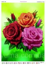 Схема вышивки бисером на атласе Три розы Юма ЮМА-3296