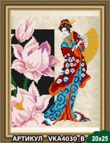 Рисунок на ткани для вышивки бисером Девушка с лотосом Art Solo VKA4030B - 55.00грн.