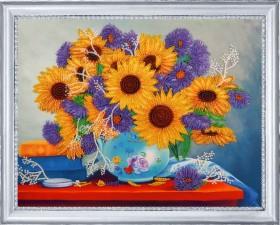 Набор для вышивки бисером Подсолнухи и астры Баттерфляй (Butterfly) 172Б - 297.00грн.
