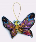 Набор для изготовления игрушки из фетра для вышивки бисером Бабочка