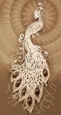 Схема вышивки бисером на габардине Жар-Птица Tela Artis (Тэла Артис) ТК-094