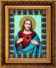 Набор для вышивки бисером Святое Сердце Иисуса Чарiвна мить (Чаривна мить) Б-1231