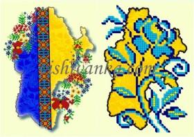 Схема для вышивки бисером на атласе Обложка для паспорта Вишиванка БН-082 атлас - 43.00грн.