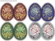 Схема для вышивки бисером на габардине Пасхальные яйца
