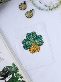 Набор для вышивки крестом на одежде Листочик удачи - 1 Абрис Арт АНО-015 - 156.00грн.
