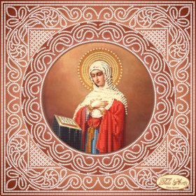 Схема вышивки бисером на атласе Богородица