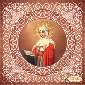 Схема вышивки бисером на атласе Богородица, , 75.00грн., ТИС-017(1), Tela Artis (Тэла Артис), Схемы для вышивки бисером иконы 20*30 см (альбомный лист)