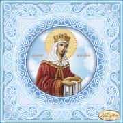 Схема вышивки бисером на атласе Святая Равноапостольная Царица Елена