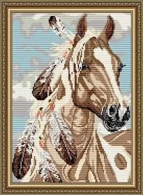 Набор для выкладки алмазной техникой Мустанг, , 400.00грн., АТ3022, Art Solo, Животные