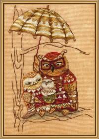 Набор для вышивки крестом Под зонтом, , 136.00грн., СР4220, Новая Слобода (Нова слобода), Вышивка на дизайнерской канве