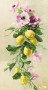 Рисунок на ткани для вышивки бисером Букет с лимонами