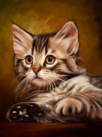 Набор для выкладки алмазной мозаикой Милый котенок