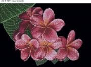 Схема для вышивки бисером на габардине Чудесные цветы
