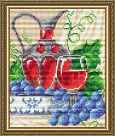 Набор для выкладки алмазной техникой Вино в бокале, , 280.00грн., АТ5556, Art Solo, Алмазная мозаика