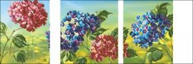 Схема вышивки бисером на габардине Триптих Цветы 3 Эдельвейс ТС2-08 - 175.00грн.