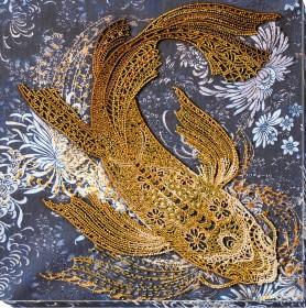 Набор для вышивки бисером Денежная рыбка