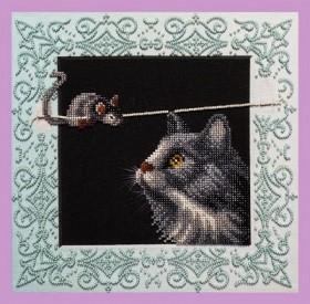 Набор для вышивки бисером Кошки-мышки