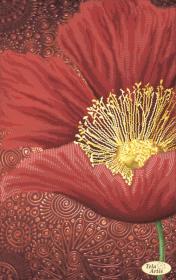 Схема вышивки бисером на атласе Алые лепестки