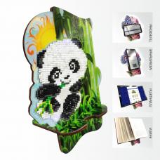 Подставка под телефон с алмазной мозаикой Панда в бамбуковой роще Art Solo АРМ-06