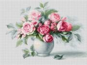 Набор для вышивки крестом Этюд с чайными розами