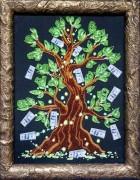 Набор для вышивки бисером на габардине Дерево достатка