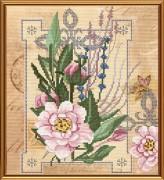 Набор для вышивки в смешанной технике Цветы нежности
