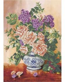 Схема вышивки бисером на габардине Цветочный день Acorns А3-К-584 - 70.00грн.