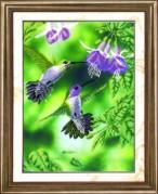 Схемы для вышивания бисером на авторской канве Пара колибри