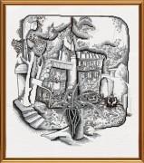 Набор для вышивки крестом Старый дворик