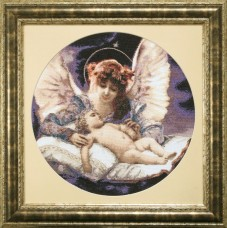 Набор для вышивки крестом Ангел - Хранитель по мотивам Г. Ферье Чарiвна мить (Чаривна мить) М-226