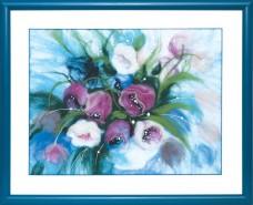 Набор для валяния картины Утренние тюльпаны Чарiвна мить (Чаривна мить) В-199