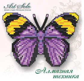 Набор-магнит для выкладки алмазной мозаикой Золотистый лесник (Euphaedra-neophron) Art Solo БАТ09 - 110.00грн.
