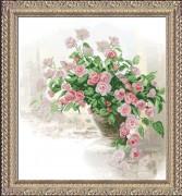 Набор для вышивки крестом Вдыхая розы аромат 1