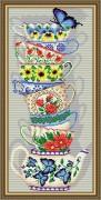 Набор для выкладки алмазной мозаикой Чашки с бабочкой