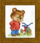 Набор для вышивки крестом Подарок для мишки