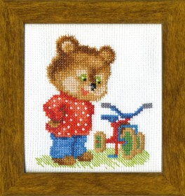Набор для вышивки крестом Подарок для мишки, , 42.00грн., ВТ-017, Cristal Art, Детские наборы