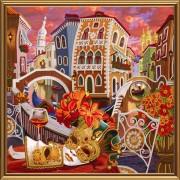 Набор для вышивки бисером Венеция. Зазеркалье