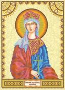 Схема для вышивки бисером на холсте Святая Валерия