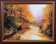 Набор для вышивки бисером Дорога в осень