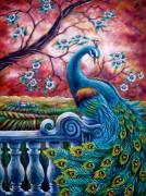 Набор для выкладки алмазной мозаикой Павлин на закате