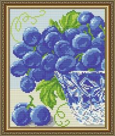Набор для выкладки алмазной мозаикой В хрустале. Виноград Диптих 1, , 280.00грн., АТ5545, Art Solo, Картины из нескольких частей