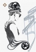 Схема для вышивки бисером на атласе Икона стиля