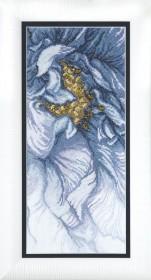 Набор для вышивки крестом Голубое настроение, , 355.00грн., М-270, Чарiвна мить (Чаривна мить), Цветы