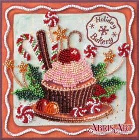 Набор-мини для вышивки бисером на натуральном художественном холсте Праздничные сладости Абрис Арт AM-198 - 102.00грн.